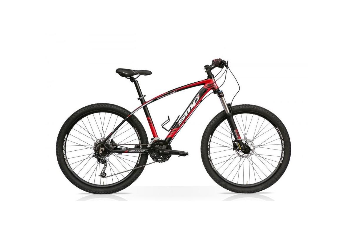 Bicicletta MTB XC Brontes 29 Front 27V Shimano Deore Nero Rosso