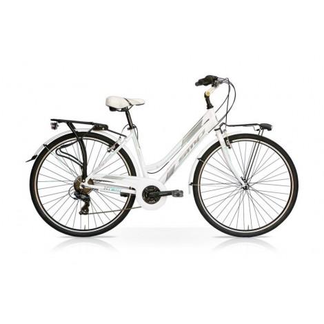 Bicicletta MY WAY 28 Donna 21V Bianco Tiffany Mercurius