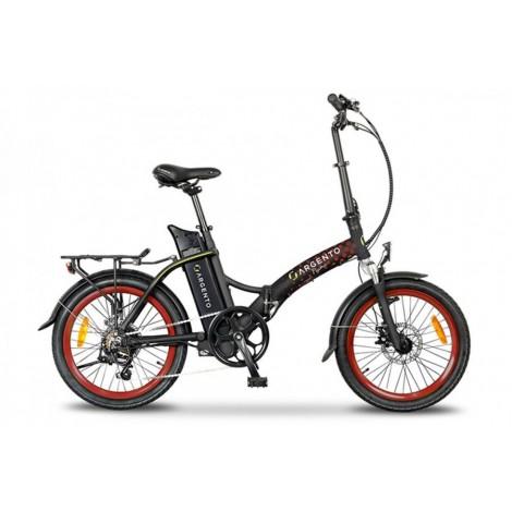 E-bike Argento Piuma Nero Rosso