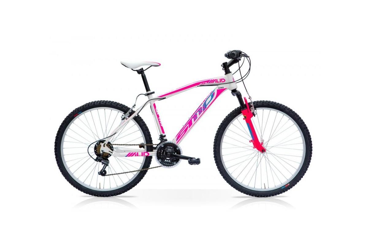 Bicicletta MTB MUD 27.5 Front 21V Shimano Bianco Fucsia