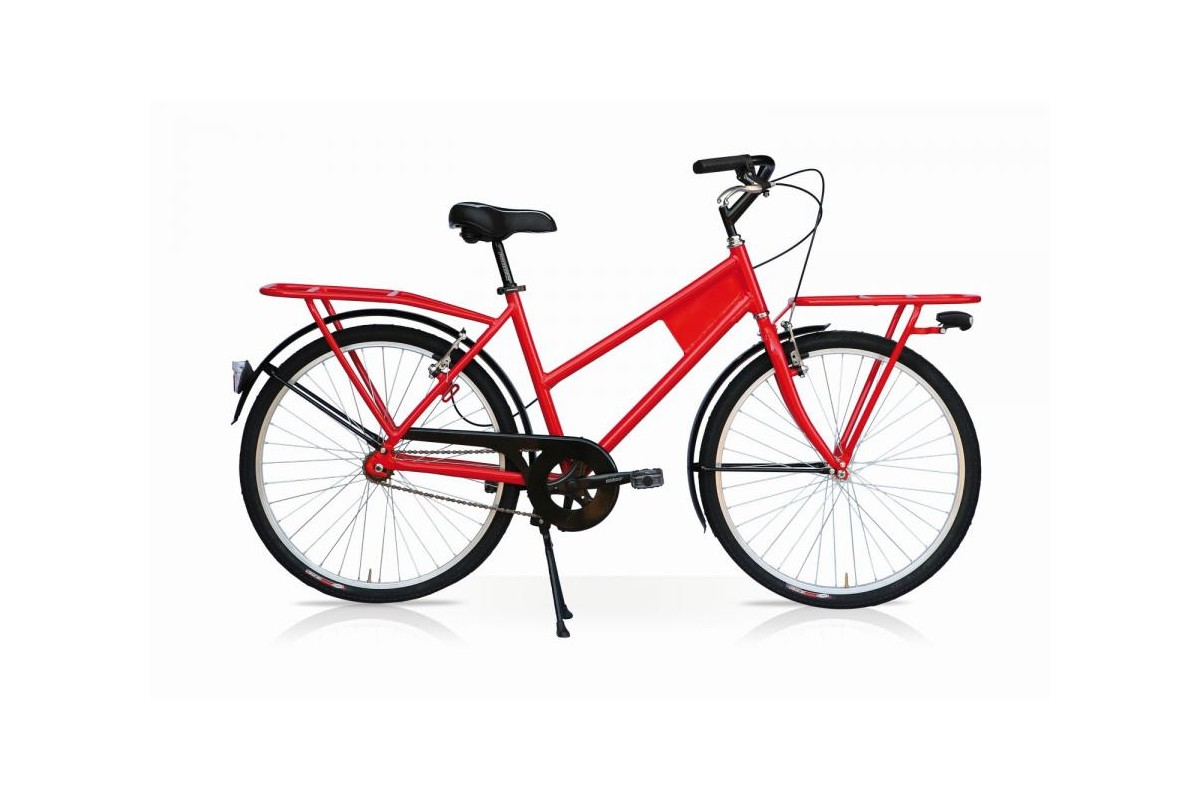 Red Transport Cargo Bike
