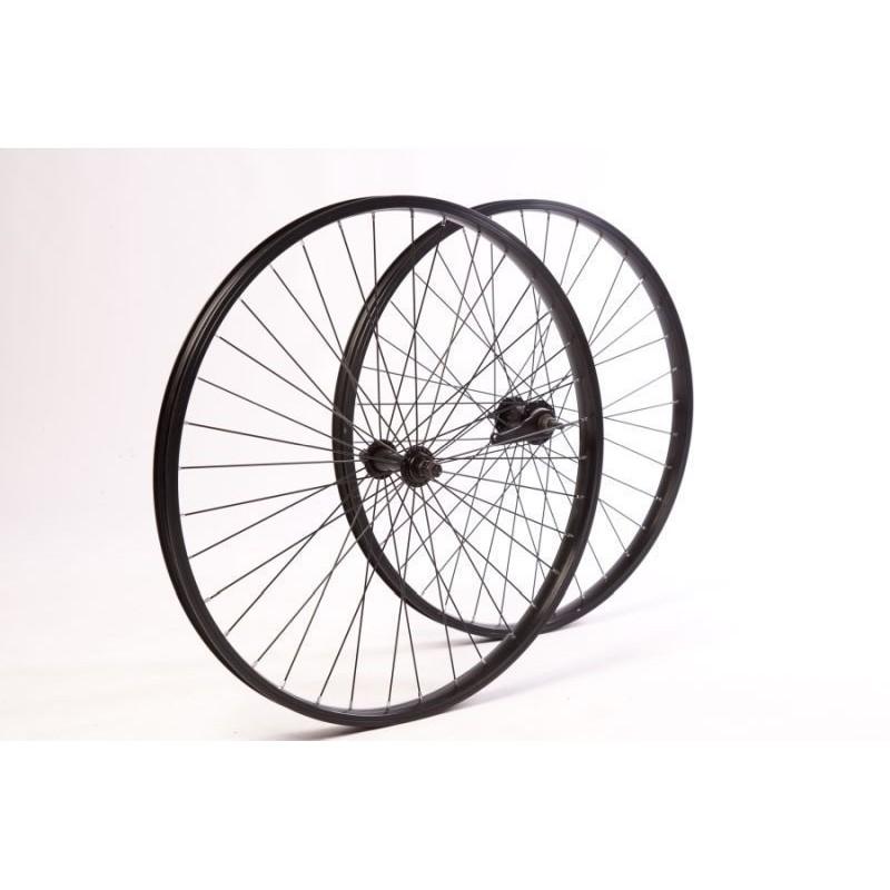 26 coaster brake wheel set Black