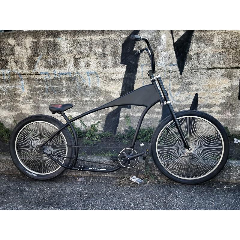 telai kustom bikes chopper rahmen matt schwarz cruiser. Black Bedroom Furniture Sets. Home Design Ideas