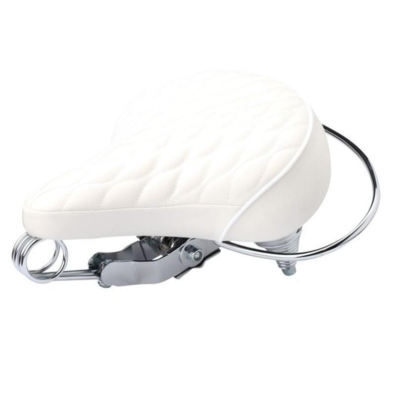 Diamond White leather saddle