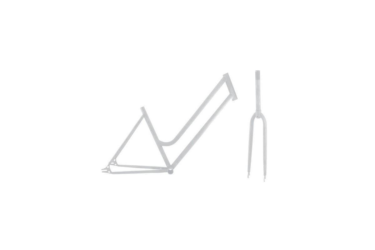 Woman frame + fork kit 700CX46 White