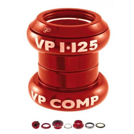 Serie sterzo A-Head set 1\'\' - 1/8\'\' alluminio Rosso